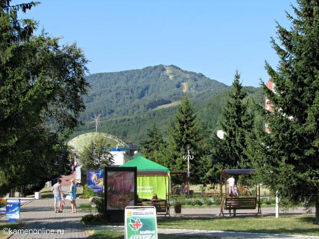 Белокуриха курорт гора Церковка. Belokurikha resort. Mount Tserkovka