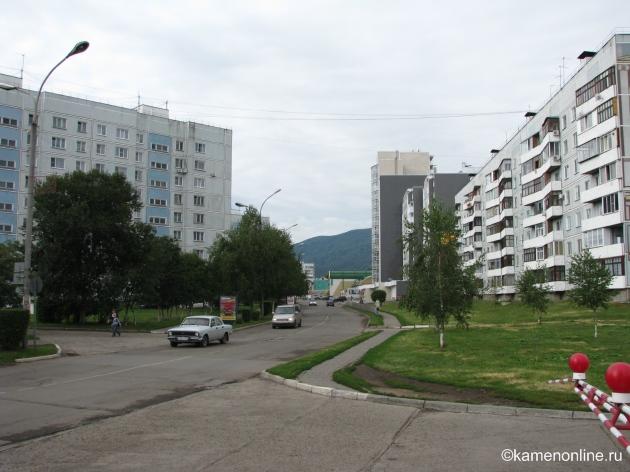 Вид на Белокуриху со стороны автовокзала. View of Belokurikha by bus station