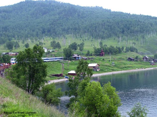 Кругобайкальская железная дорога КБЖД Озеро Байкал Старая Ангасолка Фото