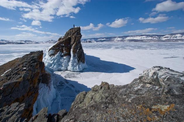 Мыс Хорин-Ирги зимой остров Ольхон озеро Байкал фото