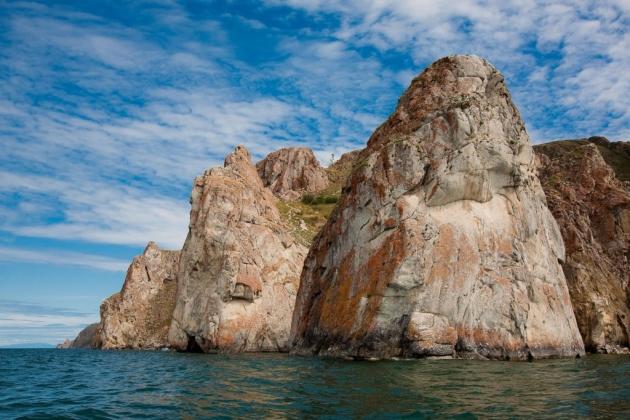 Мыс Саган-Хушун остров Ольхон озеро Байкал фото
