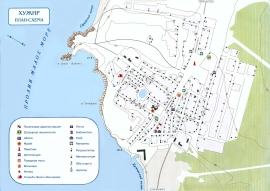 Карта Хужир Байкал